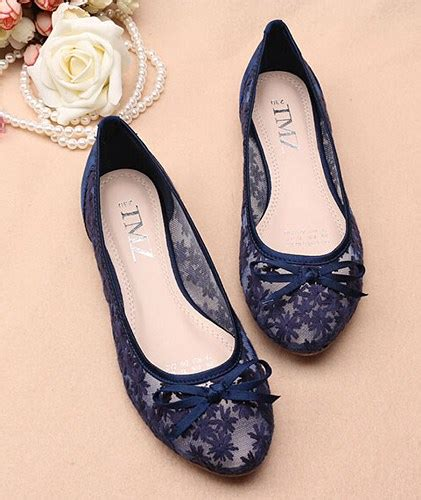 Lace Wedding Flats For by Blue See Through Lace Flats Shoes Lace Bridal Flats
