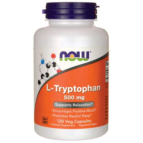 supplement l tryptophan now foods l tryptophan 500 mg 120 veg caps swanson