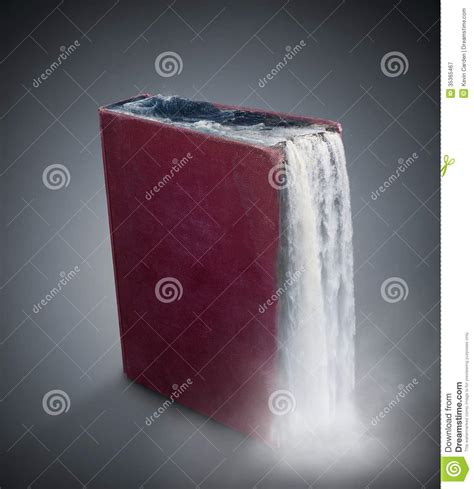 waterfall books waterfall book royalty free stock photography image