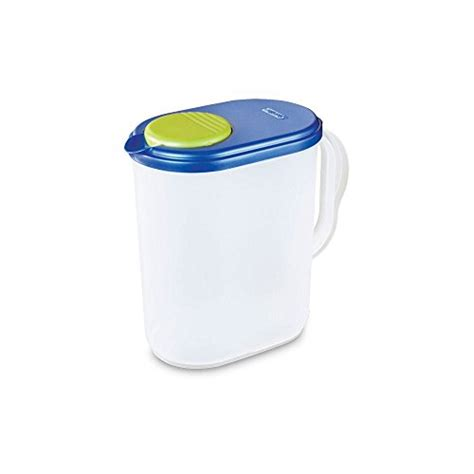 1 Gallon With Lid by Sterilite 4904106 1 Gallon Pitcher With Blue Lid