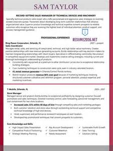 Resume Format For Sales Manager by Sales Manager Resume Exle