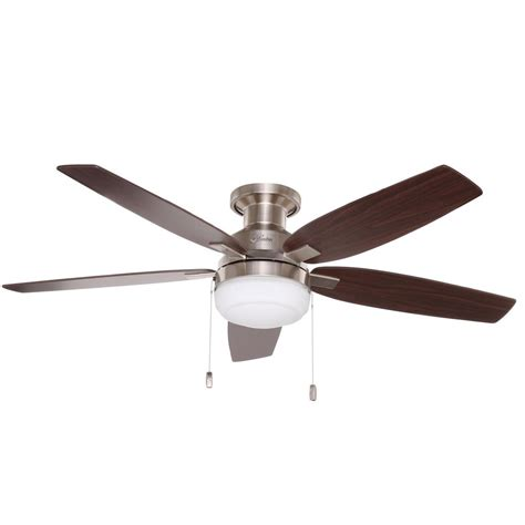 hunter douglas fans home depot hunter duncan 52 in indoor brushed nickel ceiling fan