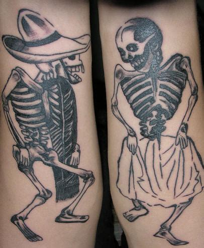 dancing couple tattoo skeleton images designs