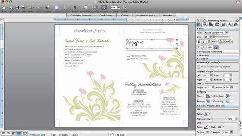 wedding invitations  microsoft word youtube