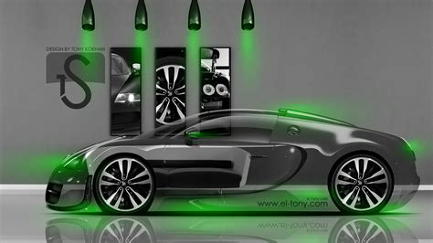 green bugatti bugatti veyron crystal home car 2014 el tony