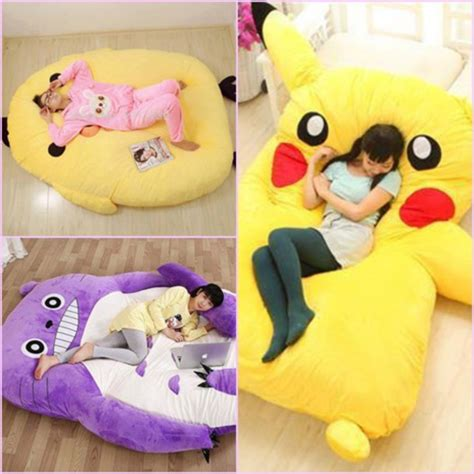 Huge Bean Bag Chair Home Accessory Pikachu Giant Bed Pillow Bed Huge