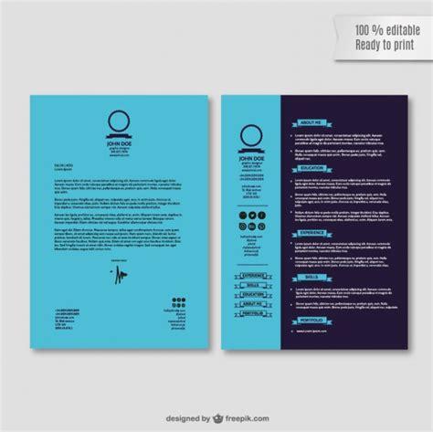 Modelo Curriculum Ort Bewerbung Lebenslauf Vorlage Der Kostenlosen Vektor