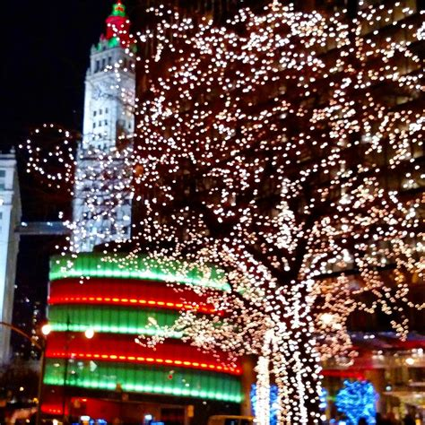 christmas lights in chicago photograph by madeline tracy