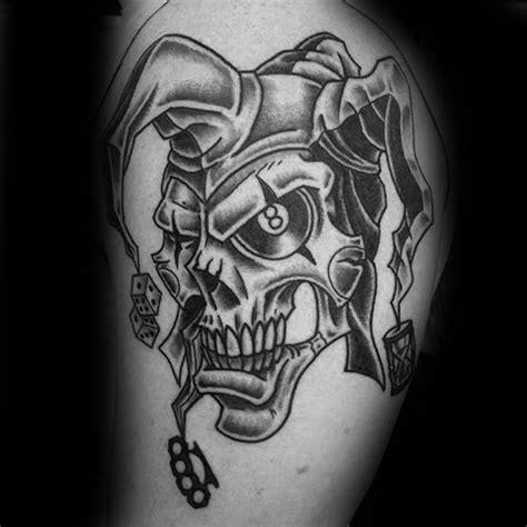 tattoo ideas jester 50 jester tattoo designs for men entertainer ink ideas