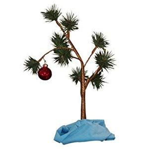 large charlie brown christmas tree brown tree with blanket 24 quot non musical home kitchen