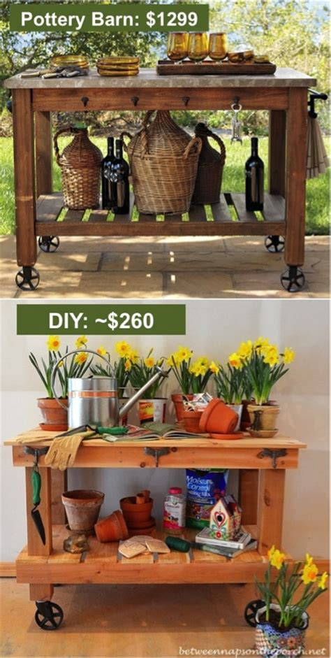 pottery barn potting bench build your own diy pottery barn inspired potting table and