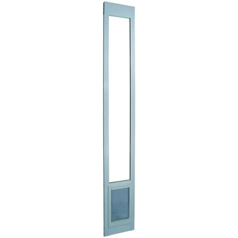 Pet Doors For Patio Sliding Door by Shop Aluminum Pet Patio Medium White Aluminum Sliding Door