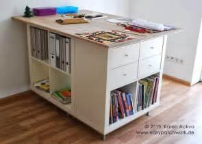Ikea Hackers Kitchen Island une table de couture sur mesure avec kallax bidouilles ikea