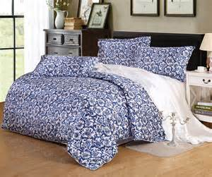 Cheap Kids Comforter Sets Blue And White Chinese Porcelain Print Satin Silk Bedding