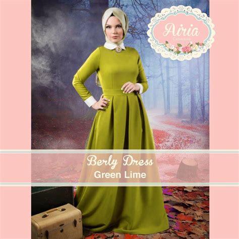 Velian Gamis Dress berly dress green lime baju muslim gamis modern