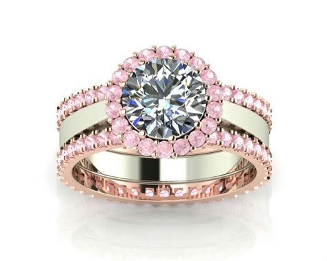 100 Pink Sapphire 1 32 Ct stunning pink sapphire and engagement ring 2 ct