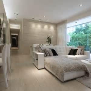 living room bedroom together images