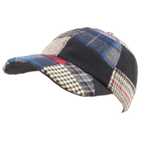 Patchwork Cap - baseball cap hat hawkins tweed patchwork wool one size