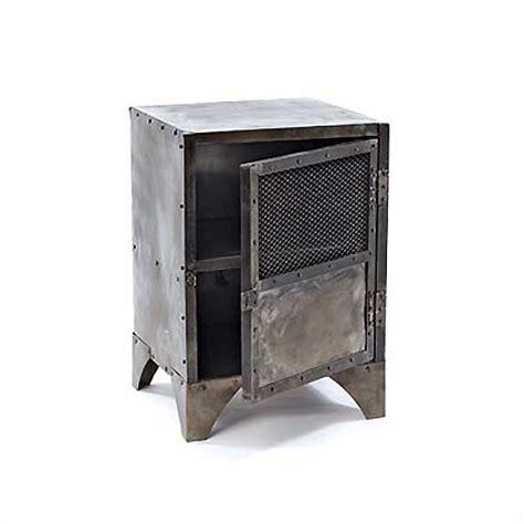 Metal Locker Nightstand Hudson Goods Vintage Industrial Furniture 187 Metal Locker End Tables