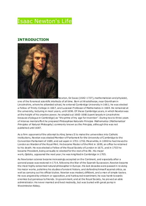 isaac newton mini biography isaac newton essay writinggroups319 web fc2 com