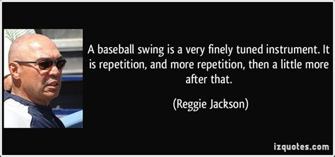 swing a little more a baseball swing is a very finely tuned instrument it is