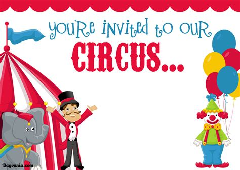 Free Printable Circus Birthday Invitations Template Bagvania Free Printable Invitation Template Circus Invitation Template Free