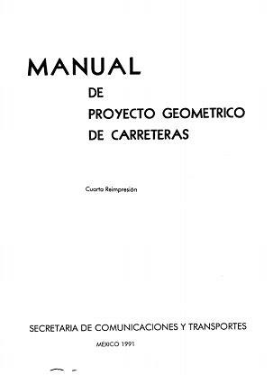PDF Civil: Manual de proyecto geométrico de carreteras SCT