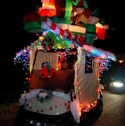 christmas themes for golf holiday golf cart parade returns with routes on north and