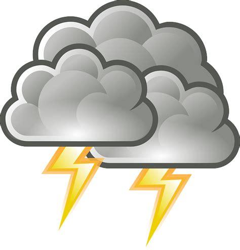 clipart donne kostenlose vektorgrafik gewitter blitz donner regen