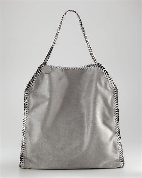 Stelan Grey stella mccartney falabella tote bag large in gray lyst