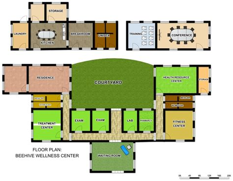 health center floor plan wellness beehive wellness center