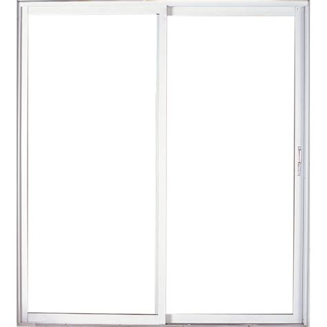 Patio Sliding Doors Lowes Shop West Palm 72 In Clear Glass Aluminum Sliding Patio Door With Screen At Lowes