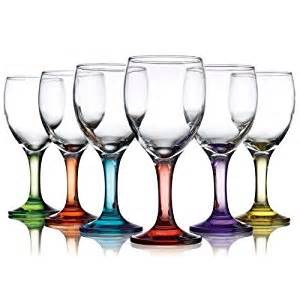 colorful wine glasses carnival color wine glass 10 oz set of 6