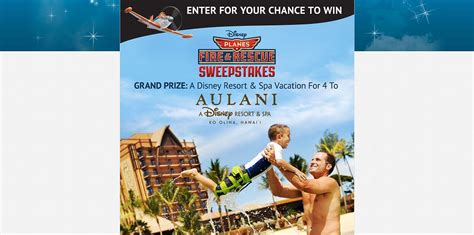 Disney Movie Rewards Sweepstakes - disney movie rewards planes fire rescue sweepstakes family vacation to o ahu hawaii