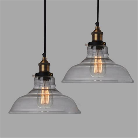 E27 Pendant Light E27 28cm Vintage Industrial Ceiling L Shade Glass