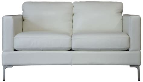 white leather loveseat tobia snow white leather loveseat 35102b s1296 moroni
