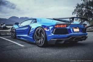 Lamborghini Aventador Chrome Blue Chrome Blue Lamborghini Aventador Rear Side Sssupersports