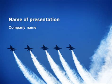 aviation parade flyer template background in microsoft