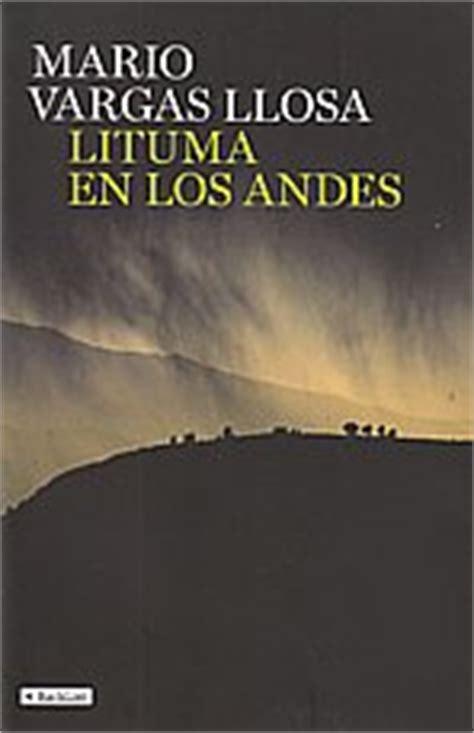 libro lituma en los andes librer 237 a desnivel lituma en los andes mario vargas llosa