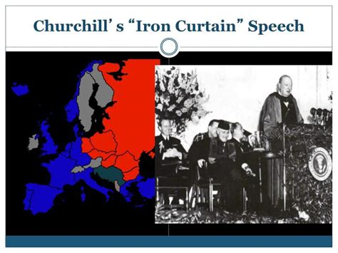 what was the iron curtain speech about ppt the cold war powerpoint presentation id 5680950