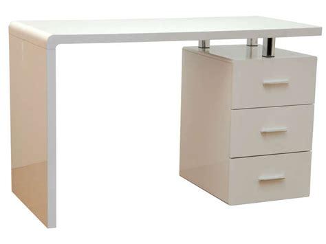 bureau gloss coloris blanc vente de bureau conforama