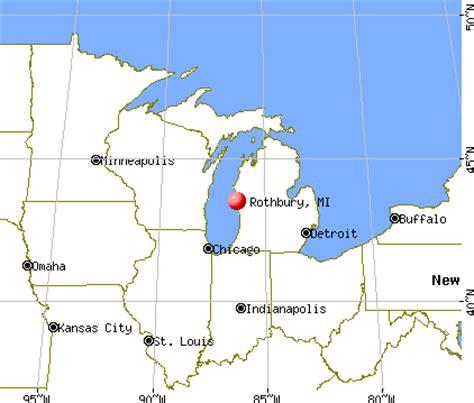 rothbury michigan map rothbury michigan mi 49452 profile population maps