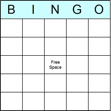 free bingo card templates blank bingo cards printable bingo activity and