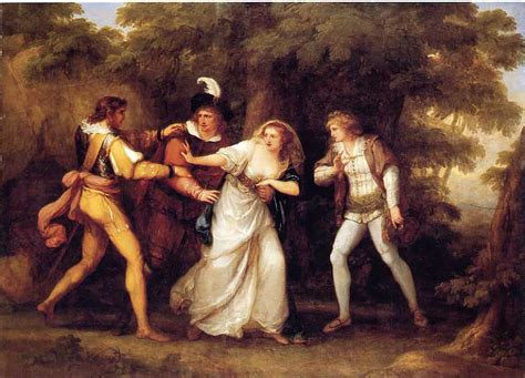libro gainsborough a portrait valentine rescues silvia in the two gentlemen of verona angelica kauffman wikiart org