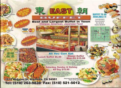 east buffet menu alameda dineries