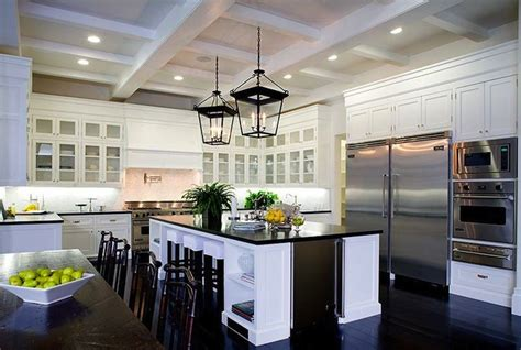 kitchens with white cabinets and dark floors white shaker cabinets transitional kitchen