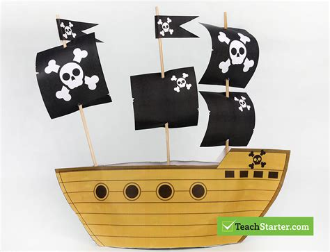 pirate ship template talk like a pirate day 2017 activities templates more