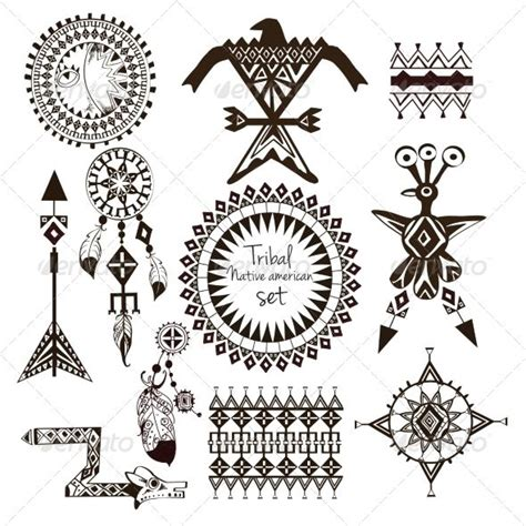 navajo pattern meaning tribal native american set christbaumanh 228 nger sioux und