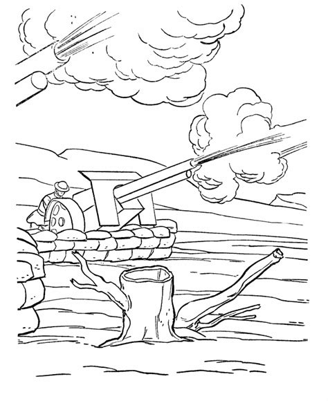 Usa Printables Wwi Weapons Coloring Sheet American World War 1 Coloring Pages