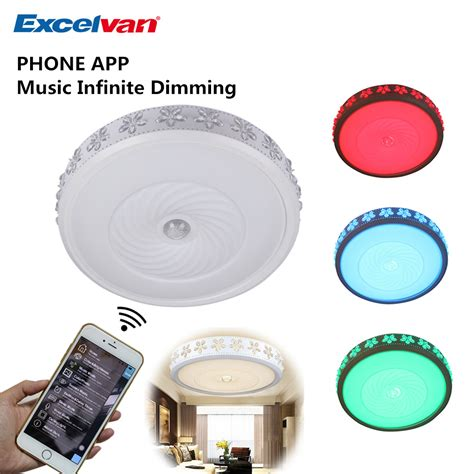 remote control ceiling light fixture 38w dimmable led rgb w ceiling light wireless remote
